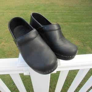 Dansko Flat Black Nursing Clog Shoes